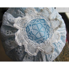 Antique Early 19th c Baby Cap Ayrshire Hand Stitched Christening Bonnet