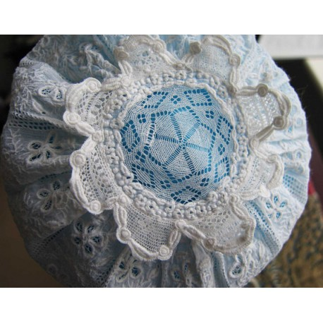 ntique Early 19th c Baby Cap Ayrshire Hand Stitched Christening Bonnet