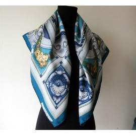 Etro Classical and Smart Large Silk Scarf with Hand Rolled Hems