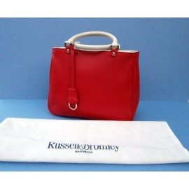 Russell and Bromley Confident Red Smart Leather Bag with Dust Bag