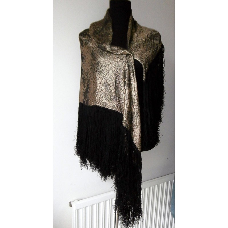 1920 S Luxurious And Collectible Metallic Lame Shawl