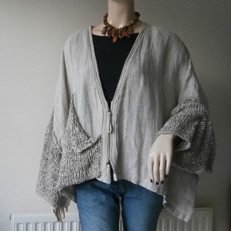 Barbara Speer Designer Cardigan or Jacket with Great Detail and Textures