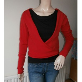 Sarah Pacini Confident Red Wrap Around Cardigan
