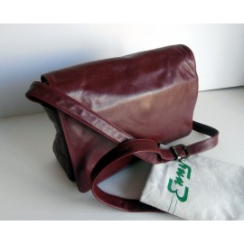 Enny Damson Leather Bag with Lots of Compartments