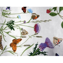 Beckford Silk Scarf Depicts 58 British Butterflies Design By Gunilla Treen