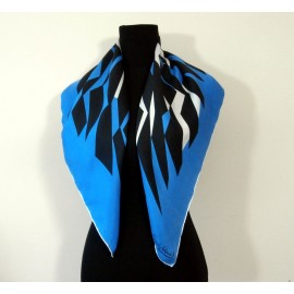 Hardy Amies Bright Sharp Abstract Vintage Silk Scarf