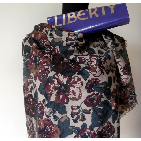 Liberty of London Autumnal Varuna Wool Shawl