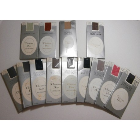 13 Pairs Christian Dior Vintage Stockings & Tights - All Different Colours