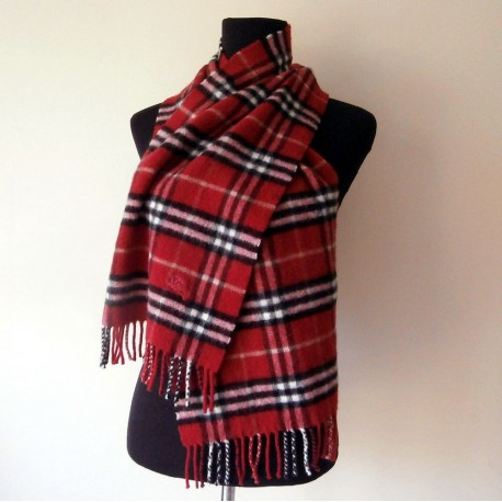 Burberry Cashmere and Wool Scarf On Trend being Red for A/W 17