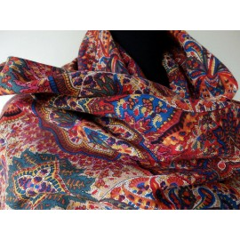 Liberty Rich Luxurious Colored Vintage Varuna Wool scarf-Shawl