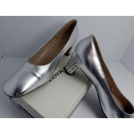 Bruno Magli Show Stopper Heels and Subtle Silver Leather Vintage Shoes