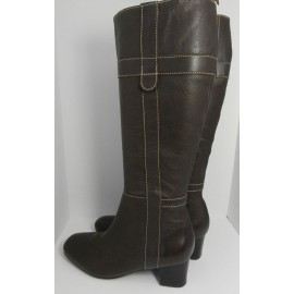 Boden Real Leather Knee High Mid Heel Boots