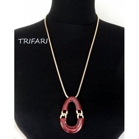 Trifari Stylish Vintage Pendant Necklace 70's Look
