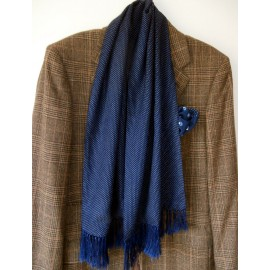 Tootal Original Vintage Midnight Navy and White Polka Dot Scarf