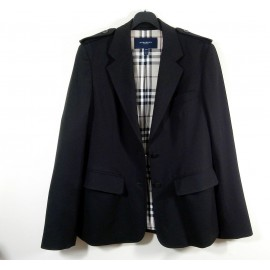 Burberry London Versatile Smart Fine Wool Jacket with Nova Check Lining