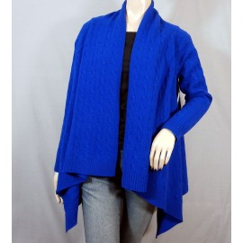 Stunning Ralph Lauren Cobalt Blue Cardigan- Jacket Wool and Rabbit