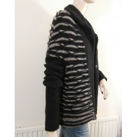 Designer Sarah Pacini Alpaca and Wool Jacket - Cardigan