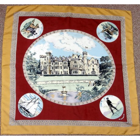 The Carnegie Club It's a Laird's Life Large Quality Silk Scarf