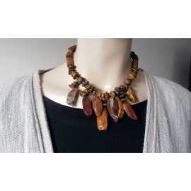 Miriam Haskell Luxurious Texture and Rich Colored Necklace