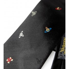 Vivienne Westwood Orb Silk Tie New with Tags