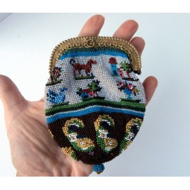 Victorian Gorgeous Tiny Adorable Beaded Purse