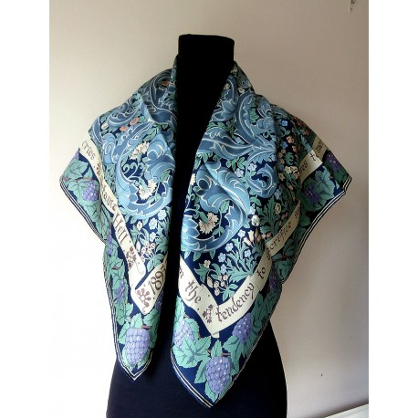 Beckford Silk Printed for National Trust in William Morris Style Vintage Silk Scarf