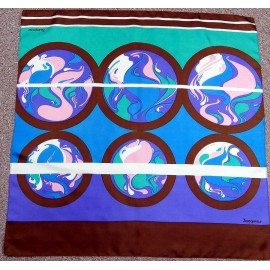 Jacqmar Luxurious Vibrant and Great Design Vintage Silk Scarf