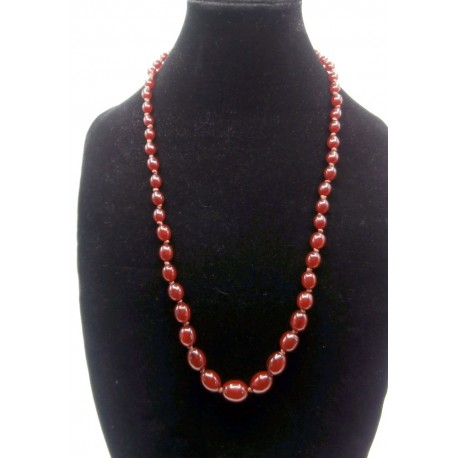 Vintage Cherry Amber Bakelite necklace, this has been tested with Simichrome