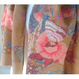 Christian Dior Butterflies Wonderful Vintage Silk scarf, Have To Say Beautiful Butterfly