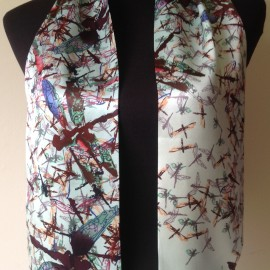 Ted Baker Beautiful Silk Scarf with Dragonflys