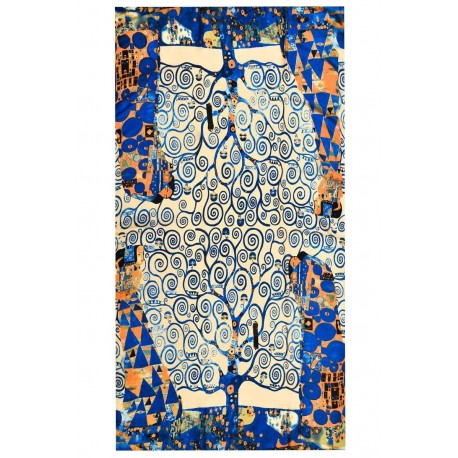 Gustav Klimt huge Tree of Life Silk scarf/shawl, new with tag great for a gift
