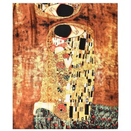Gustav Klimt Huge The Kiss Silk Scarf/Shawl, New With Tag Great For A Gift