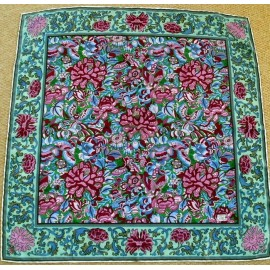 Liberty Vintage Silk Scarf Garden of William Morris with Butterlies
