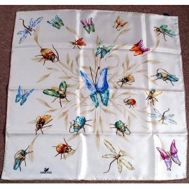 Swarovski, Silk Scarf Butterflies & Insects, New in Box