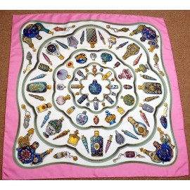 Hermes Qu'importe le flacon Vintage Silk Scarf, Designed by Catherine Baschet