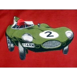 1950's Jaguar Classic Sports Car Signed Silk Scarf, Great for the collector