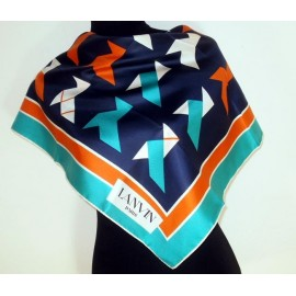Lanvin 1960's Abstract Silk Scarf