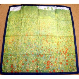 Gustav Klimt Poppies Huge Quality Silk Scarf