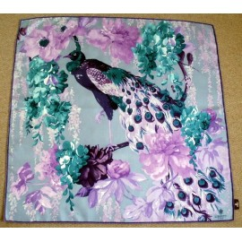 Liberty Fantastic Peacock Bird Large Silk Scarf
