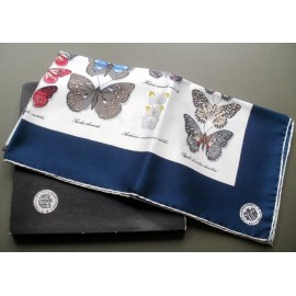 Mantero Butterflies No3 Collection Large Vintage Silk Scarf