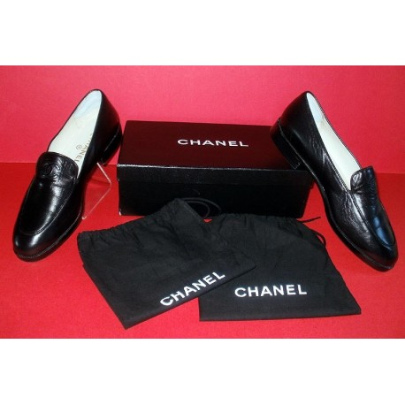 Chanel CC Logo Luxury Leather Shoes with Dust Bags & Box
