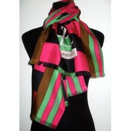Yves Saint Laurent 1960's Huge Very Bright & Bold Silk Scarf