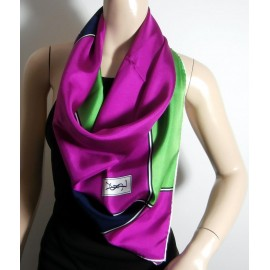 Yves Saint Laurent Luxurious Bright & Bold Vintage Silk Scarf