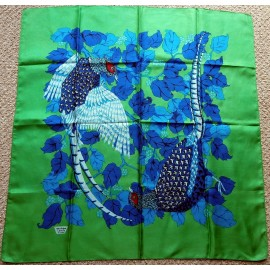Liberty Bright Pheasants Game Birds Vintage Silk Scarf
