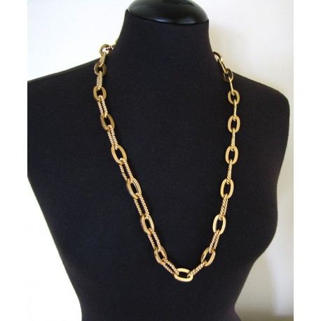 Henkel & Grosse Long Necklace Or Gold Tone Chain Belt
