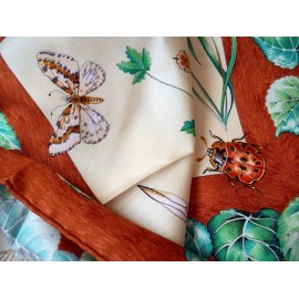 Authentic Hermes Vintage Silk Scarf La Vie Au Grand Air