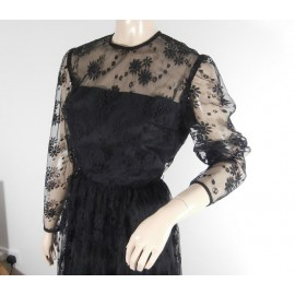Berkertex Black Lace Vintage Dress Very Kate !!