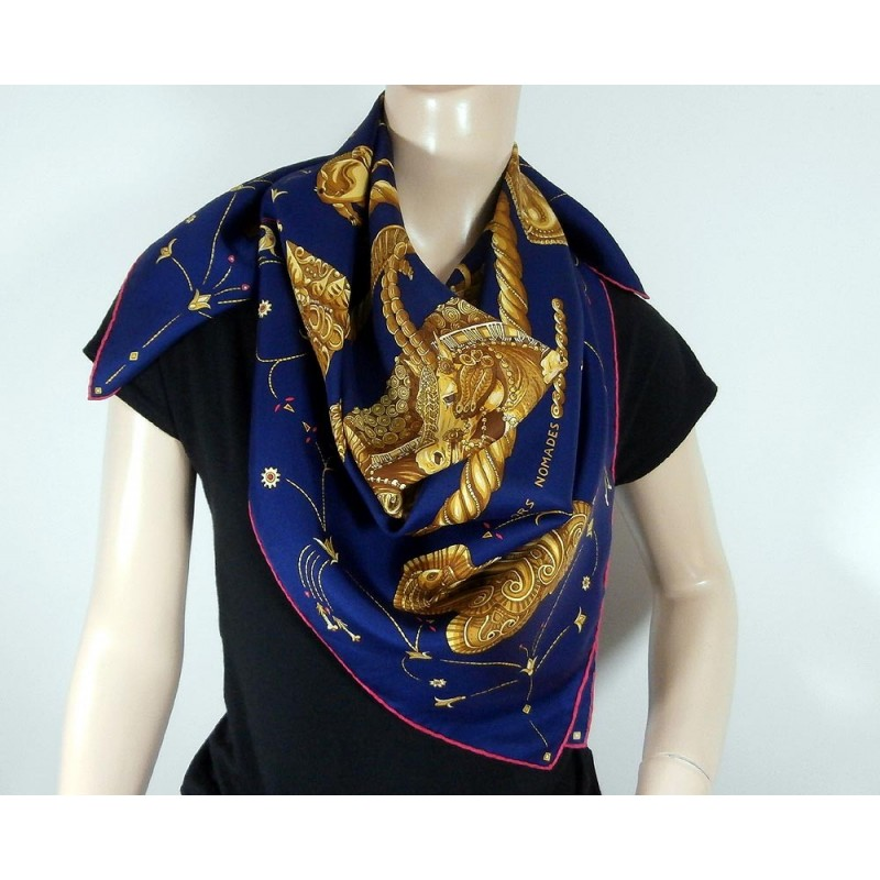 hermes ors nomades by faivre silk scarf