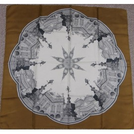 Superb 1960's Famous London Landmarks Souvenir Quality Silk Scarf