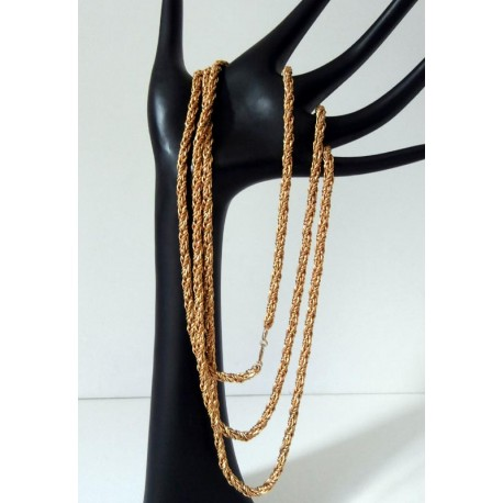 Henkel & Grosse Long Necklace Vintage Gold Tone Chain 1970's